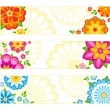 Stock Vector: Flower banners