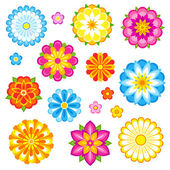 Vector flores conjunto — Vector de stock