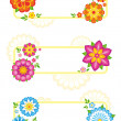 Flower frames — Stock Vector