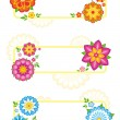 Stock Vector: Flower frames