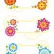 Flower frames — Stock Vector