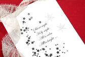Vánoční přání tichá noc — Stock fotografie