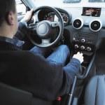 Man using car navigation — Stock Photo
