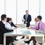 Grupo de negocios en reunión — Foto de Stock