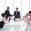 Group of business at meeting — Stock Photo #5291740