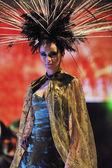 Fashion show woman catwalk — Stock Photo