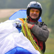 Stock Photo: Paragliding sport