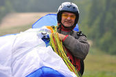 Paragliding sport — Stock Photo