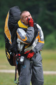 Paragliding sport — Stock Photo