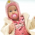 Winter baby — Stock Photo