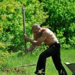 Man garden work — Stock fotografie