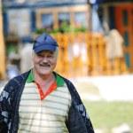 Happy senior man outdoor — Stock Photo