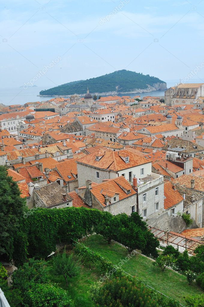 Dobrovnik old city in croatia turistic centar and attraction also unesco protectet   Stock Photo #5376703