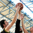 Basketball duel - Stock Photo