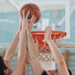 Basketball duel — Stock Photo #5383073