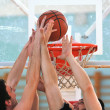 Basketball duel — Stock Photo #5383075