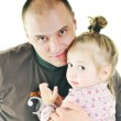 Man  and little girl — Stock Photo