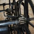 Old big clock mechanism machine engine — 图库照片