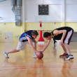 Stock Photo: Basketball duel