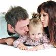 Happy young family together — Stock Photo