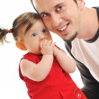 Young father play with beautiful daughter — Stock Photo #5384633