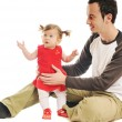 Young father play with beautiful daughter — Stock Photo #5385344