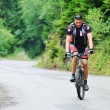 Mount bike man outdoor — Stockfoto