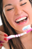 Woman dental care — Stock Photo