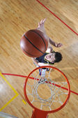 Basketball duel — Stock Photo