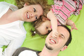 Happy young family — Foto Stock