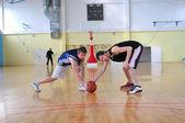 Basketball duel — Stock Photo