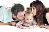 Happy young family together — Foto Stock