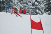 Ski race — Stock Photo