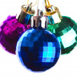 Three balls of different colours - Stock Photo