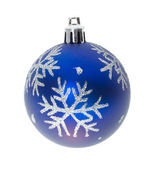Blue ball with snowflakes — Stock Photo