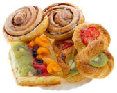 Set of sweet pastry — Stock Photo