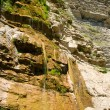 Dry waterfall in summer — Stock Photo