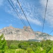 Stock Photo: Cableway to Ai-Petri mountain