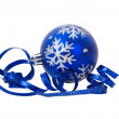 Christmas decoration with ribbon — Stock Photo