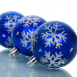 Christmas decorations with reflection — Stock Photo #4276354