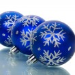 Christmas decorations with reflection — Stock Photo