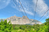 Cableway to Ai-Petri mountain — Stock Photo