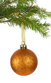 Golden christmas decoration — Photo
