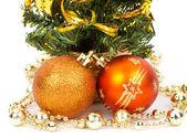 Decorações de natal e pinheiro — Fotografia Stock