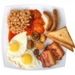 Stock Photo: Traditional english breakfast on plate isolated