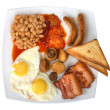 Traditional english breakfast on plate isolated - Stock Photo