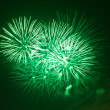 Green fireworks at night — Stock Photo #4943609
