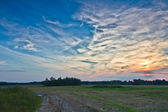 Yol alanında, sunrise — Stok fotoğraf