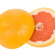 Cut red grapefruit — Stock Photo