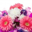 Bouquet with gerbera and chrysanthemum — Stock Photo